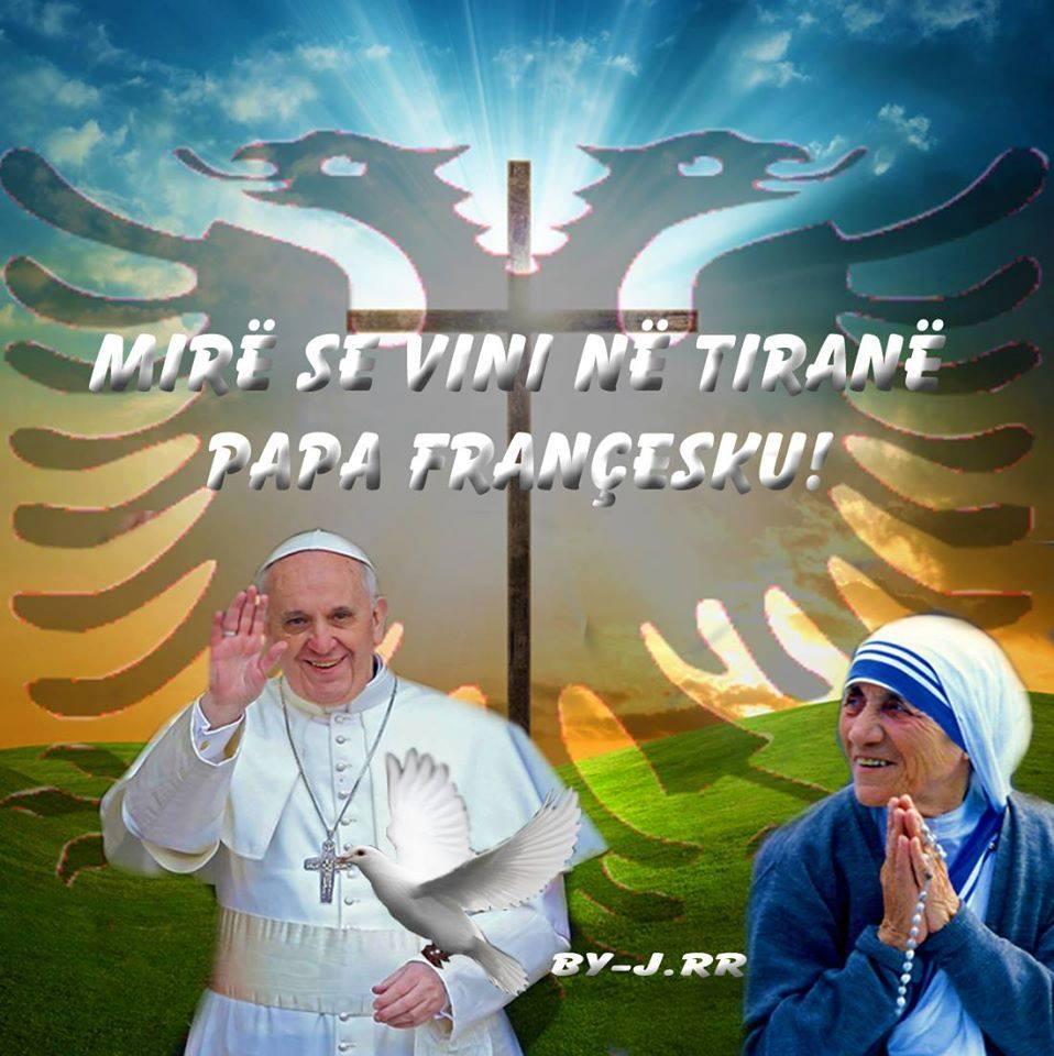 Rezultate imazhesh për papa gjon pali II ne tirane dhe nena tereze